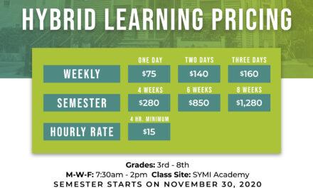 Hybrid Learning Prices – Semester Starts November 30